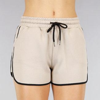 NEW1908 Bequeme Beige Stretch Short mit Taschen