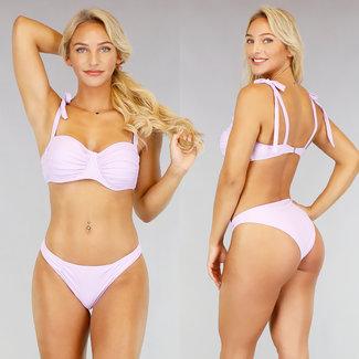 Lila gefaltetes Bikini Bracket