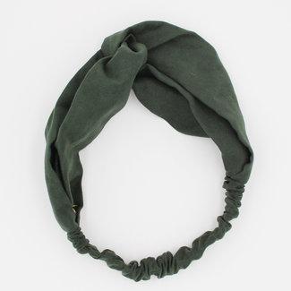 Grünes Haarband mit Wildleder-Optik