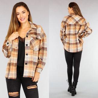 NEW2110 Camel Maxi-Block-Bluse