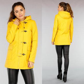 NEW0411 Yellow Regenmantel mit Hakenverschluss