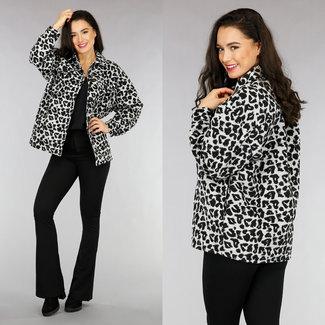 NEW1301 Grau Leopard Bluse Jack
