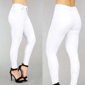NEW2701 Weiß High Waist Jeans-Abdeckung