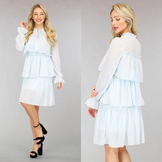 NEW0302 Licht Layered Chiffon-Kleid