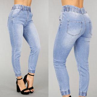 High Waist Jeans Paperbag mit Wassing