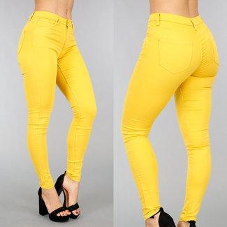 Basic Yellow Medium Taille Jeans