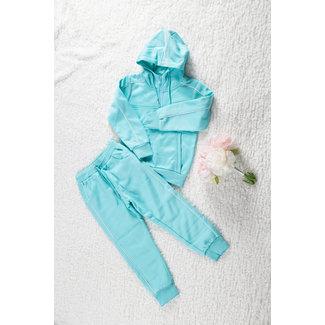 NEW1802 Mint Mädchen Trainingsanzug mit 1/2 Zip Hoodie