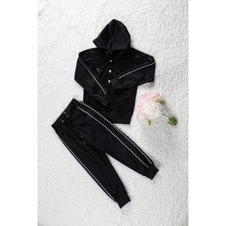 NEW1802 Black Girl Anzug mit Drucker