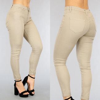 Grund Taupe Medium Taille Jeans