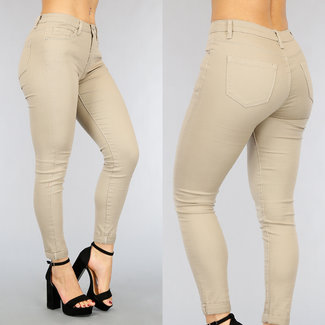 NEW1802 Grund Taupe Medium Taille Jeans