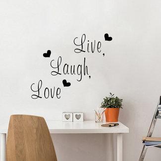 NEW1802 Leben Lachen-Liebe-Wand-Aufkleber