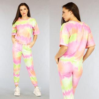Multicolor Abbindebatik Huispak Short Sleeve
