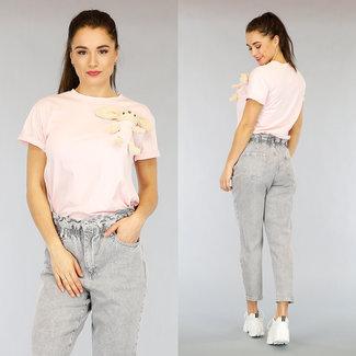 Hellrosa Maxi-Häschen-Hemd