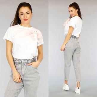 NEW0303 Weiß Maxi-Häschen-Hemd