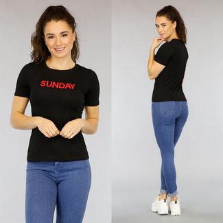 NEW2403 Black Sunday T-Shirt