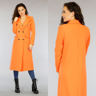 NEW2403 Lange orange-Blazer-Jacken