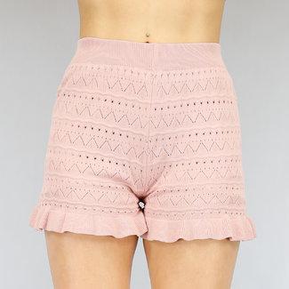 NEW2104 Light Sweet Rosa Knit Short