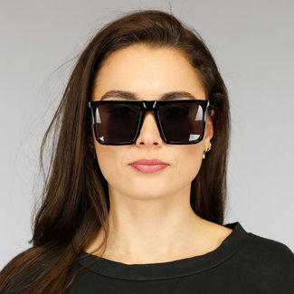 NEW2804 Große schwarze Sonnenbrille