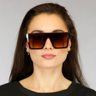 Brown übergroße Sonnenbrille