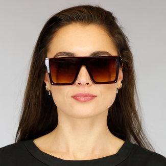 NEW2804 Brown übergroße Sonnenbrille