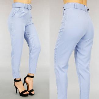 Light Blue Hose mit Gürtel