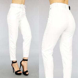 NEW0505 Weiße Hose mit Gürtel