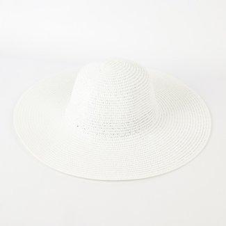 NEW0505 Basic Weiß Sommer-Hut