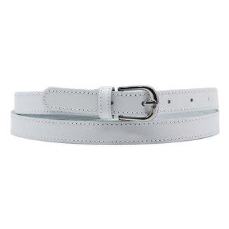 Basic Weiß Lederband