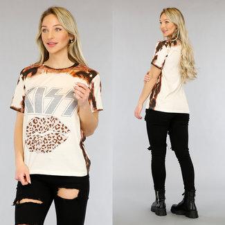 NEW1905 Brown Kuss Batik-T-Shirt