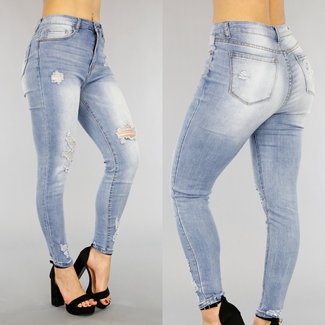 Heftige Blue Jeans Licht Wassing