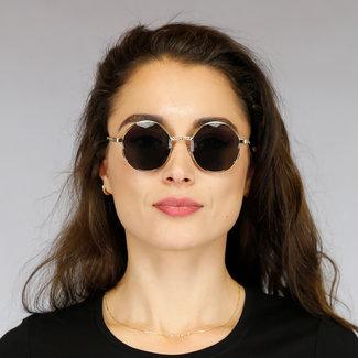 NEW1905 Runde Sonnenbrille aus Metall mit geflochtenen Details