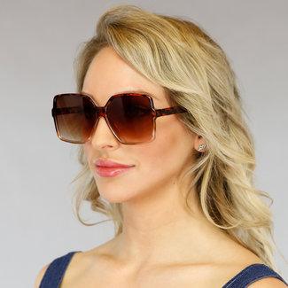 Brown-Leopard-Druck-Sonnenbrille