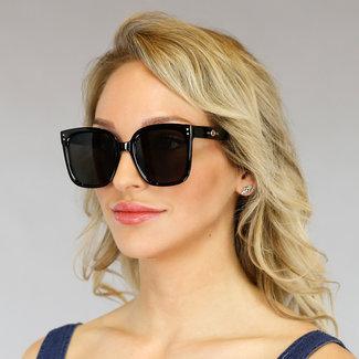 NEW2605 Schwarz-Sonnenbrille mit dunklen Gläsern