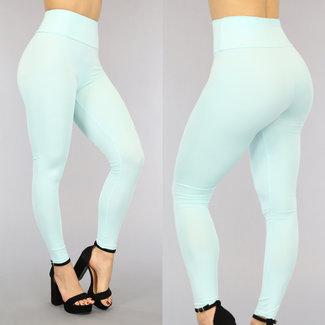 Minzen-Grün-elastische hohe Taille Legging