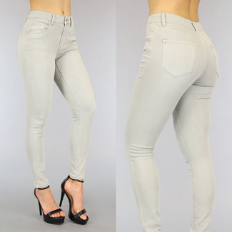 Hellgrau mit hohen Taille Jeans