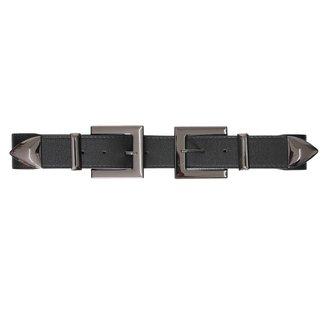 NEW0206 Elastischer Gürtel mit Doppelschnalle Verschluss