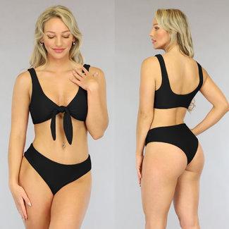 NEW1606 Schwarz mit hohen Taille Bikini-Bogen