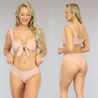 Nude High Waist Bikini-Bogen