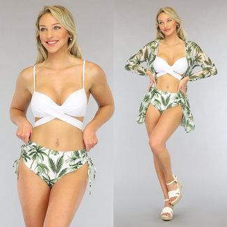 NEW0906 Hohe Taillen-Knopf Bikini-Vertuschung-Jacke