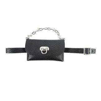 NEW0906 Blick Croco Schwarz Leder Hüfttasche