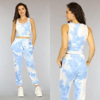 NEW1606 Light Blue Tie Dye Kit mit Crop Top