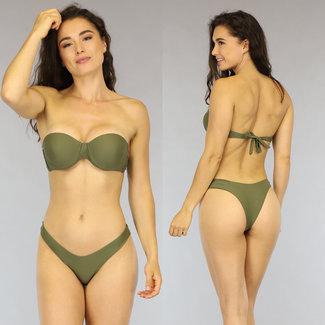 Grün Push-Up Bandeau Bikini