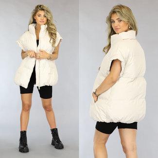 NEW1808 Übergroße Vest-Creme