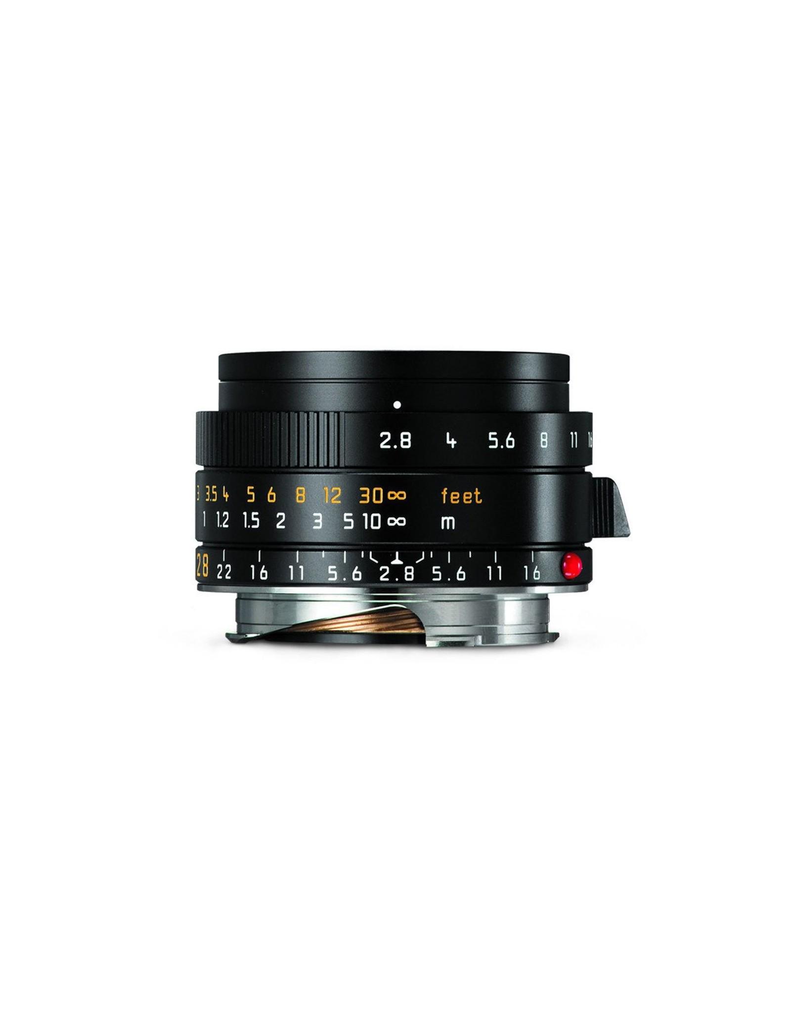 Leica Leica 28mm f2.8 Elmarit-M ASPH Black   116-77