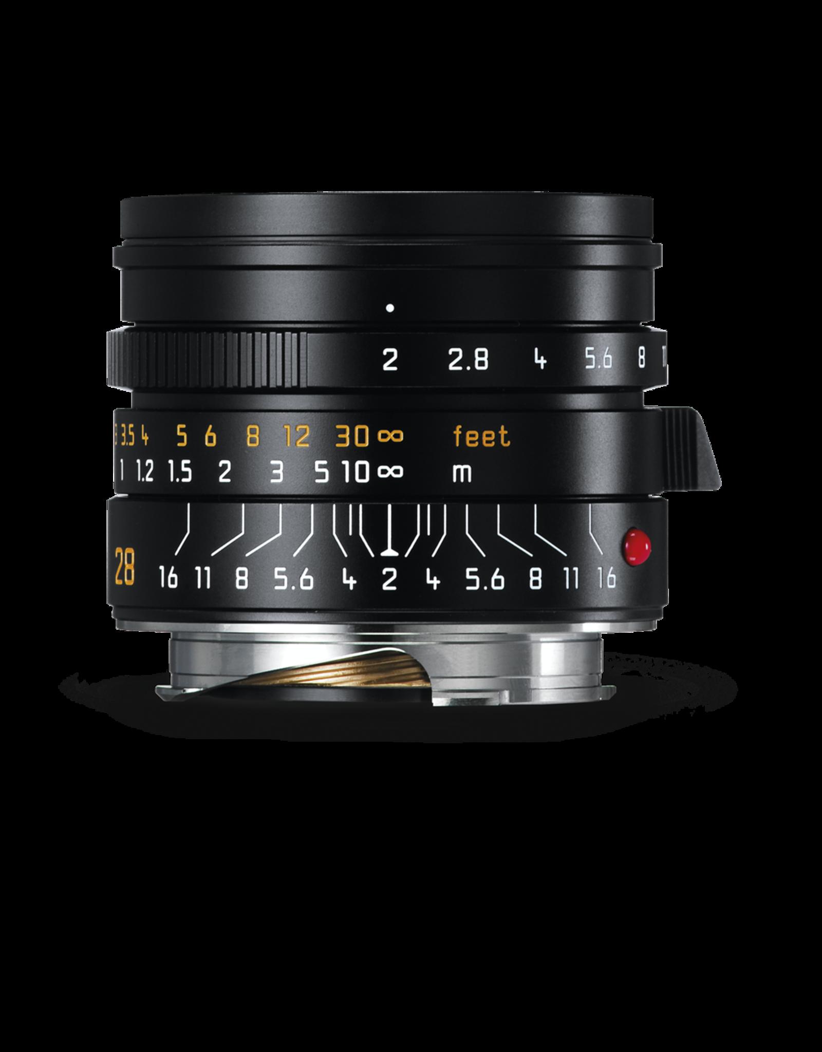 Leica Leica 28mm f2 Summicron-M ASPH Black   116-72