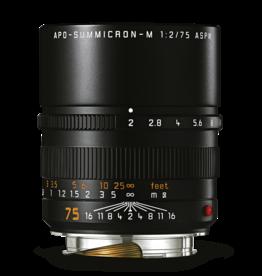 Leica Leica 75mm f2 APO-Summicron-M ASPH Black   116-37
