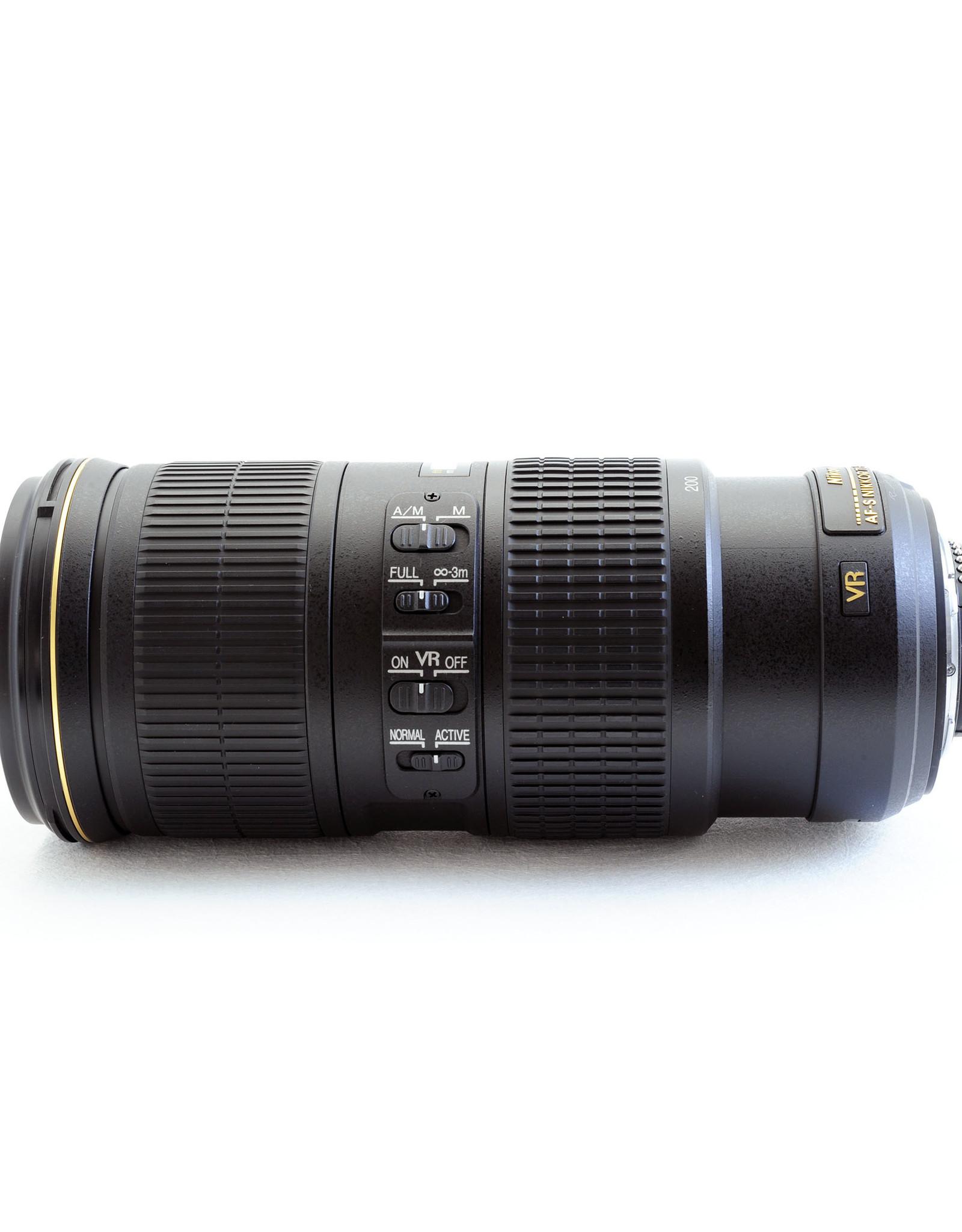 Nikon 70-200mm f4G AF-S VR + hood