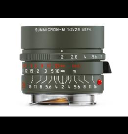 Leica Leica 28mm f2 Summicron-M ASPH Safari, Olive Green Paint Finish   117-04