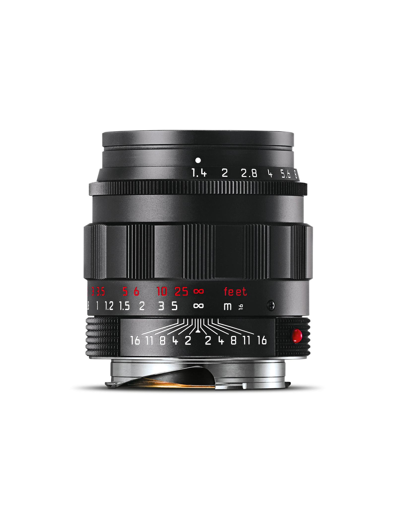 Leica Leica 50mm f1.4 Summilux-M ASPH Black Chrome (Classic)   116-88