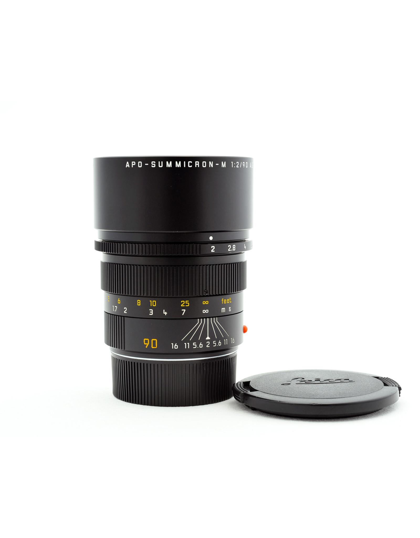 Leica Leica 90mm f2 Apo-Summicron-M ASPH Black    AP2121114